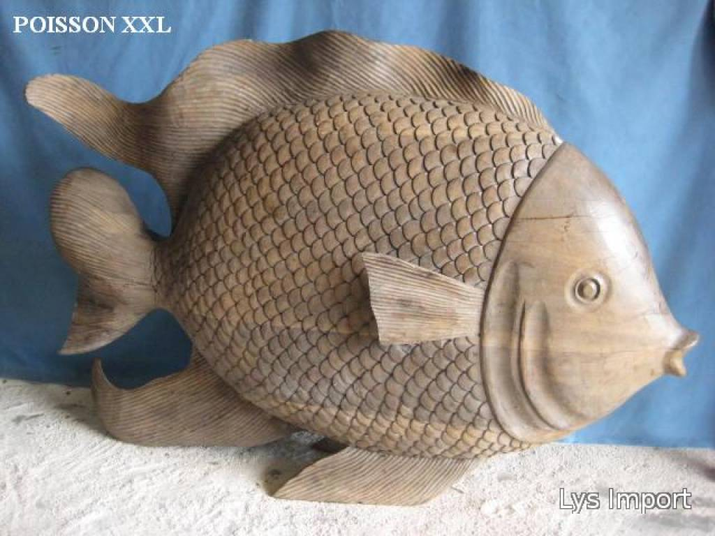 Lys deco cot mer poisson xxl for Deco poisson bois