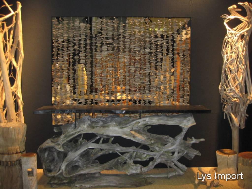 Lys deco cot mer fils bois flott for Decoration de bois flotte